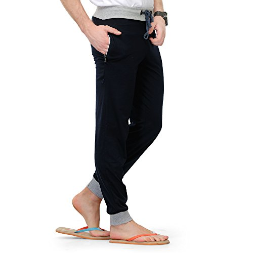TSX Men's Cotton Trackpant TSX-PYJAMA-RIB-NAVY-XL