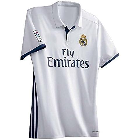 20162017Nueva Temporada Real Madrid Sergio Ramos Karim Benzema Gareth Bale Cristiano Ronaldo de bricolaje Nombre y Número Casa Camiseta de fútbol en blanco, hombre, blanco,