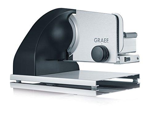 Graef SKS902EU Allesschneider Sliced Kitchen, 185 W, aluminium eloxiert/schwarz