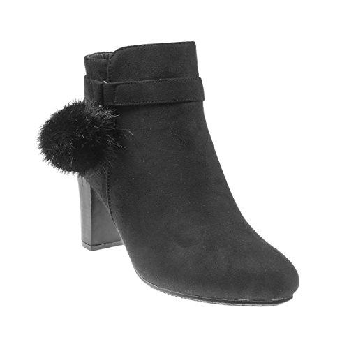 a47ab3c67e16 5186 Fashion4Young Elegante Damen Stiefel Stiefelette Ankle Boots  Lederimitat Reissverschluss Schwarz