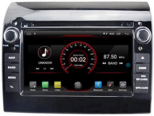 Android 9.0 Auto-DVD-Spieler GPS-Stereo Head Unit Navi-Radio Multimedia WiFi für FIAT Ducato/Peugeot Boxer/Citroen Jumper Lenkradsteuerung schwarz