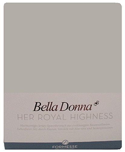 Formesse Spannbettlaken Bella Donna Single-Jersey grau Größe 180x200 cm - 200x220 cm