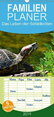 Das Leben der Schildkröten - Familienplaner hoch (Wandkalender 2019, 21 cm x 45 cm, hoch)