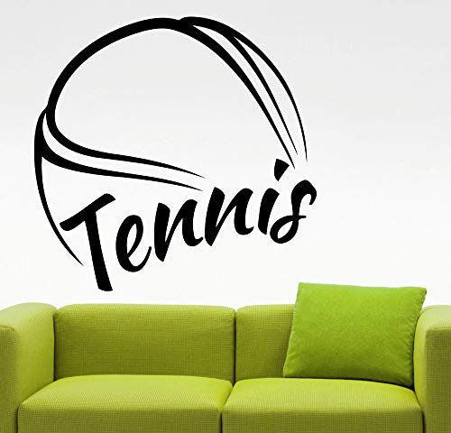 Riesige Tennis Muster Wandaufkleber Tennis Zitate Sport Serie Wandbild Home Schlafzimmer Kunst Kühlen Dekor Wandtattoos Aufkleber 56x56 cm
