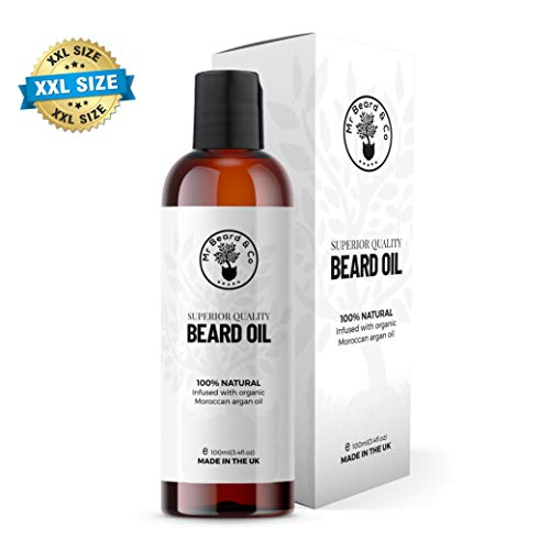 Mr Beard & Co 100ml Huile à Barbe Naturelle & Revitalisant - 100% Organique Végan