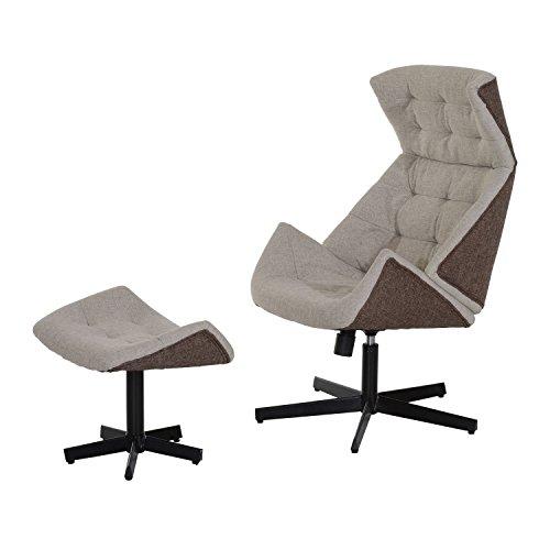 Homcom-Poltrona reclinabile a sdraio set componibile divano sedile poggiapiedi mobili