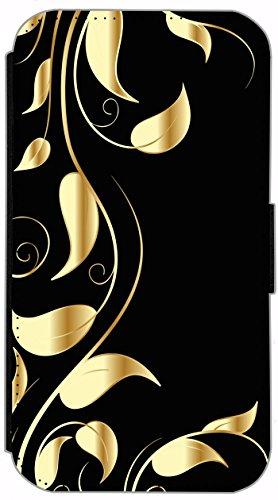 Flip Cover für Apple iPhone 5 5s Design 621 Tattoo Style Schwarz Gold Blau Hülle aus Kunst-Leder Handytasche Etui Schutzhülle Case Wallet Buchflip (621) 616
