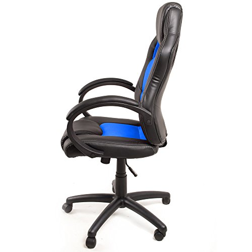 Deluxe Racing Motorsport Video Game Gaming 360 Degree Swivel Home Office Computer PC Desk Chair