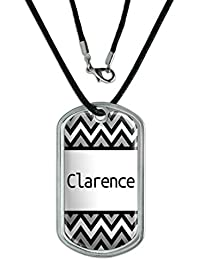 Dog Tag Pendant Necklace Cord Names Male Cay-Cl - Clarence