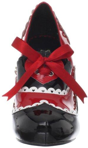 Heels Club , Chaussures à talons femme Blk-Red-Wht Pat