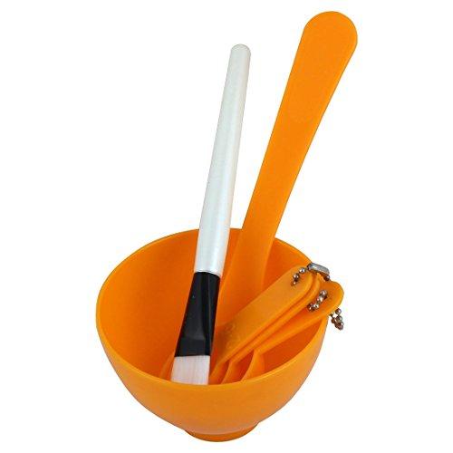 sourcingmap Fait À La Maison Masque Visage Bol Brosse Jauge Stick Ensemble 10.2cm 1