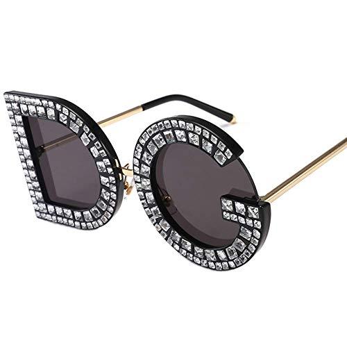 ZYG.GG Brief Sonnenbrillen Diamant-Gläser Frau Sonnenbrille Anti-UV Polarisiertes Licht Tragen Sie beständig Draussen Bewegung Urlaub,1