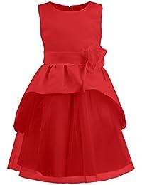 Katara - robe de fête sans manches pour filles/ ceinture avec fleur et noeud au dos - robe de cérémonie/ baptême/ mariage ou anniversaire pour enfants - diverses couleurs et tailles au choix