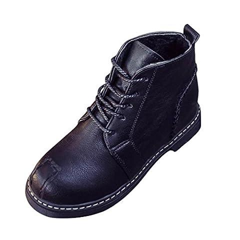 DIKEWANG , Damen Schnürhalbschuhe schwarz schwarz 37 (Chelsea Girls Schuhe)