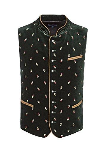Stockerpoint - Herren Trachten Weste in verschiedenen Farbtönen, Calzado, Größe:52, Farbe:Tanne
