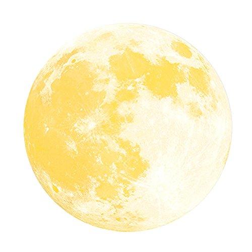 Forepin® Diametro 30cm * 30cm Adesivo da Parete Luna Fluorescente