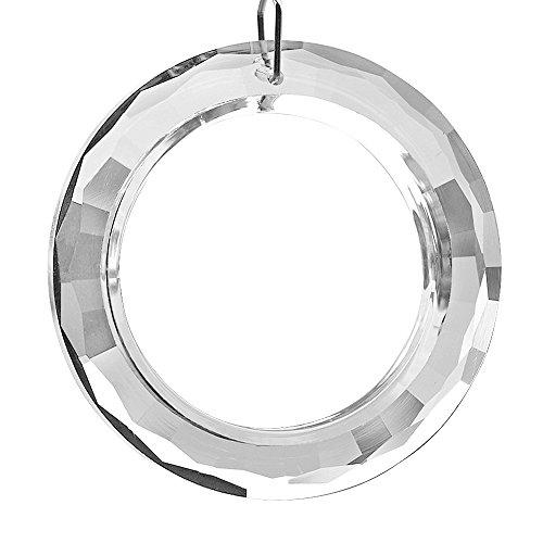 Glas Bead Kronleuchter Beleuchtung Lampe (Merssavo 1x 50mm runder hängender Ring Kronleuchter Glas Kristallprismen DIY Anhänger für Lampe)