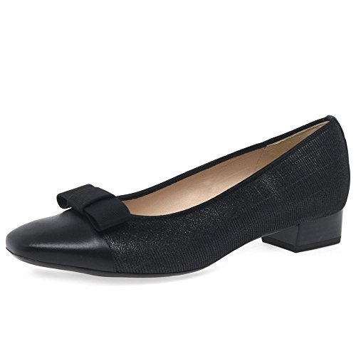 Peter Kaiser Nancy Womens Nero Tacco Basso 6 UK/ 39.5 EU Black Gillo Fabric/Suede