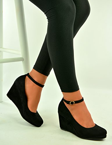 Cucu Fashion - Strap alla caviglia donna Black Suede