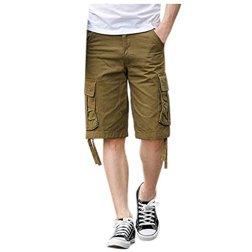 Mens Trek Stretch Fleece (Aiserkly Herren Sommer Multi-Pocket Overalls Shorts Cargo Kurze Slim Fit Arbeitshose Pleated Freizeithose Hose)