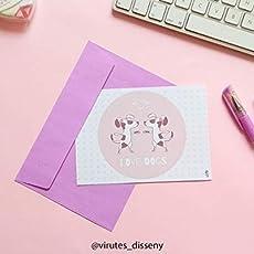 Postal de perros, postal lista para enviar, postal ilustrada ...