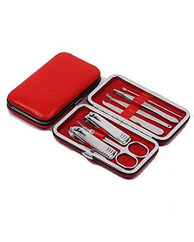 DAYAN Beauty Nail Clippers Manicure Set di tagliaunghie soddisfare il vostro attrezzo di trucco Red
