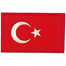 Aufnäher & Anhänger Türkische Spartan-Flagge der Türkei Gestickte Airsoft Klettverschluss-Flecken