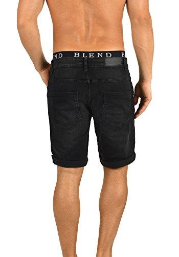 BLEND Luke Herren Jeans-Shorts kurze Hose Denim aus hochwertiger Baumwollmischung Denim Black (76204)