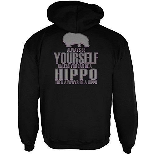 Old Glory Always Be Yourself Hippo Mens Full Zip Hoodie