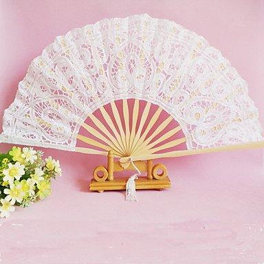 FMYXZ Pizzo Ventilatori e ombrelloni Pezzo / Imposta Ventagli Classico Bianco 42cmx23cmx1cm