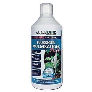 AQUASAN Mulmvec Flüssiger Mulmsauger (GRATIS Lieferung in DE - Keine Mulmglocke + mechanisches Absaugen von Mulm, Schlamm im Aquarium mehr nötig, reduziert Aquariumgeruch), Inhalt:1 Liter