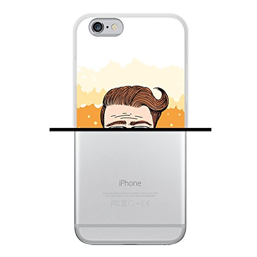 WoowCase Hülle Case für { iPhone 6 6S } Handy Cover Schutzhülle Graffiti Funny Farben Housse Gel iPhone 6 6S Transparent D0392