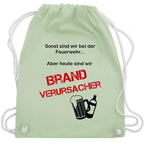 Shirtracer Feuerwehr - Brandverursacher - Unisize - Pastell Grün - WM110 - Turnbeutel und Stoffbeutel aus Bio-Baumwolle