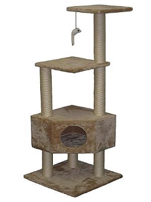 Go Pet Club Cat Tree Furniture, 19 x 19 x 51-Inch