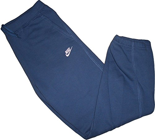 Nike Brushed Fleece Pant Hose Trainings- Jogginghose Mittel-Blau 80% Baumwolle 20% Polyester Größe Little Boys` Large = 116-122 cm / 6-7 Jahre (Kids Nike Fleece)