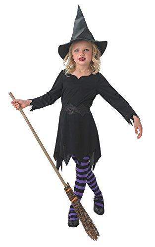 schwarz Zauberin Kostüm Mädchen groß (Zauberin Kostüm)
