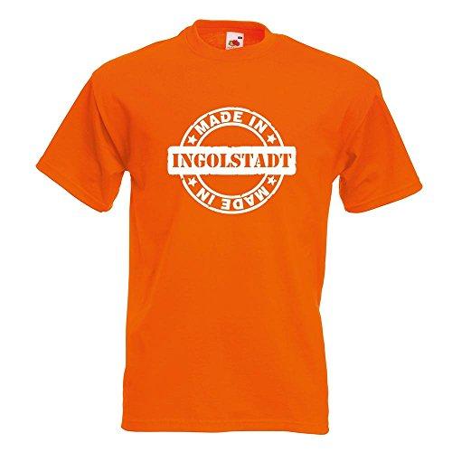 KIWISTAR - Made in Ingolstadt T-Shirt in 15 verschiedenen Farben - Herren Funshirt bedruckt Design Sprüche Spruch Motive Oberteil Baumwolle Print Größe S M L XL XXL Orange