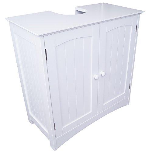 Waschbecken-Unterschrank Badunterschrank, 60 x 60 x 30 cm, weiß
