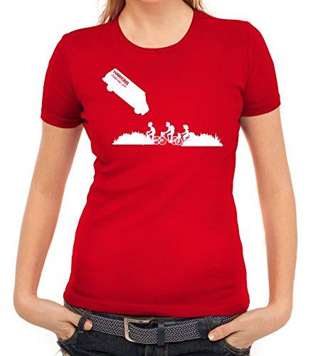 Mystery Serie Damen T-Shirt mit ST- Hawkins Van Motiv von ShirtStreet Rot