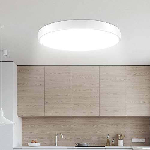 Lámpara de Techo Sararoom 28W Plafon de Techo Redonda Blanco frío 6000k-6500k Tonos Led para baño Dormitorio Cocina Sala de estar Comedor Balcón Pasillo