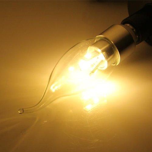 Sonline 4x E14 6 5630 SMD LED Kerze Birne Energiesparlampe Lampe Licht 3W Warmweiss