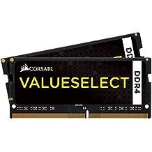 Corsair Value Select - Módulo de memoria de 8 GB (2 x 4 GB, SODIMM, DDR4, 2133 MHz, CL15), negro (CMSO8GX4M2A2133C15)