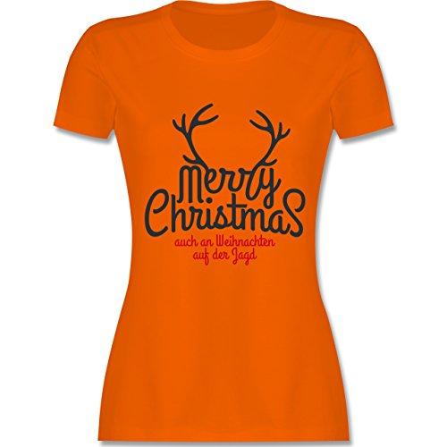 Weihnachten & Silvester - Merry Christmas Hirsch Jagd Weihnachten - tailliertes  Premium T-Shirt mit