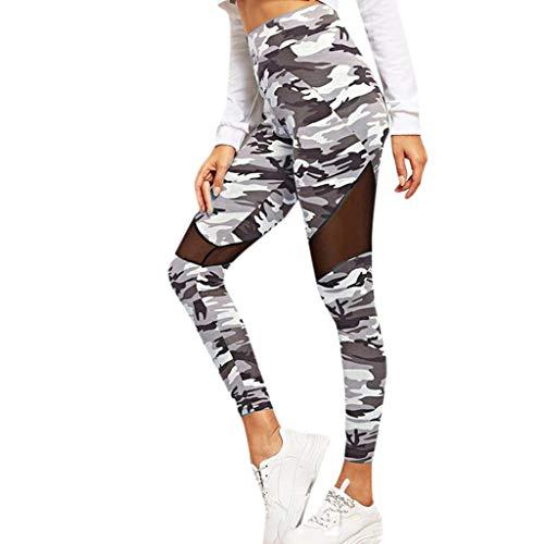 LInkay Damen Hose, Schlankheitsgamaschen Abnehmen Yoga-Hose Sport Hohe Taille Strumpfhose Mode 2019 (Grau, Large)