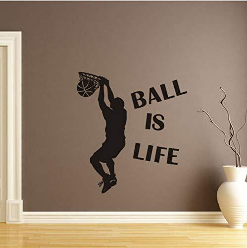 Heißer Verkauf 1 Stück Tapete Ball Ist Leben Sport Spielen Basketball Wandaufkleber Für Kinderzimmer Wandbild Decor Aufkleber Abnehmbare Neue