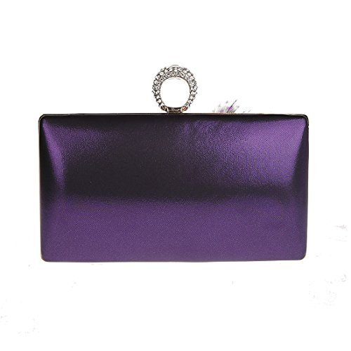 Kaxidy Ladies Handmade Piccola Borsa Da Sera Borsa Da Sera Clutch Per Party Wedding Viola