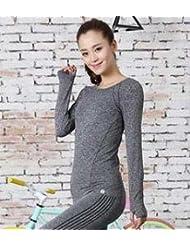 Deporte juego Yoga Ropa camiseta mujer , m , grey