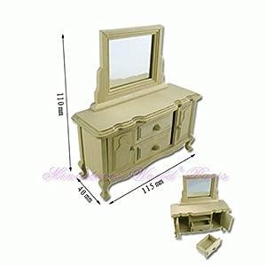 LA Mueble de casa de muñecas en Miniatura - Tocador