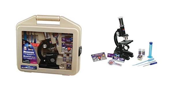 Haberkorn mikroskop kinder set 48 tlg im koffer 100 600 1200 fach