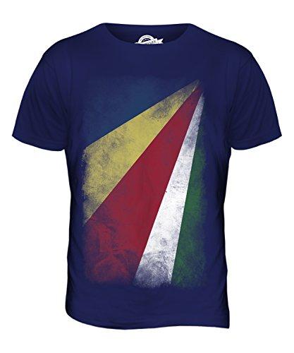CandyMix Seychellen Verblichen Flagge Herren T Shirt Navy Blau